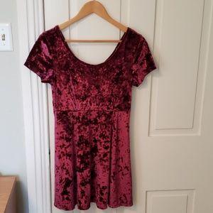 Forever 21 wine velvet dress